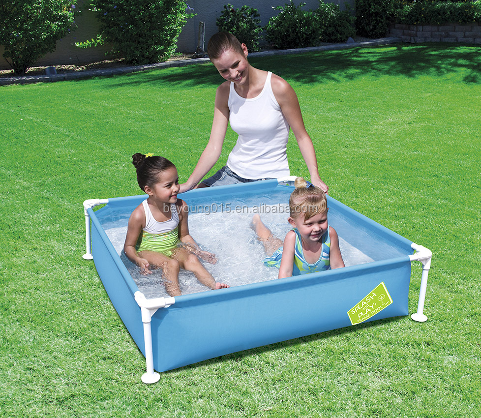 My First kiddie Frame Pool Mini Square Kids Wading Swimming Pool