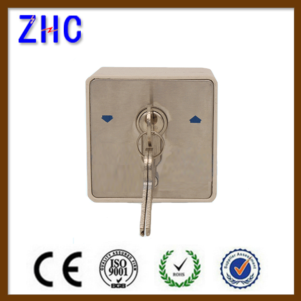 Waterproof 2 position 3 position European type roller door shutter zinc alloy key momentary switch