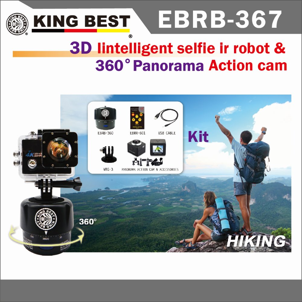 KING BEST Wholesale 360 Degrees 60min Panning Rotating go pro Time Lapse go pro for Go Pro 5 / canon camera / digital camera
