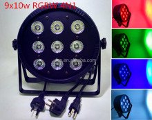 par led 9x10W DMX RGBW 4in1 Slim led par 64/led slim par stage light for dj party wedding free shipping