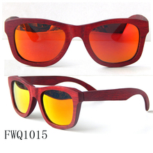 Retro style Sunglasses Orange Lens Mirrored Sunglasses Multi-layer wood Sunglasses wenzhou manufacturer