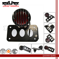 BJ-LPL-017B Motorcycle Side Mount Tail light License Plate Bracket for Harley
