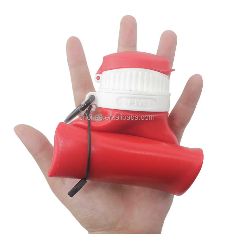 Promotional collapsible silicone foldable water bottle with new design