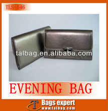 2013 cheap leatherette evening bag with metal twist lock for closure