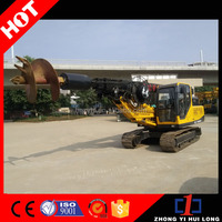 Diesel Crawler Hole Digging Drilling Equipment, Building Foundation Pile Driving Machinery