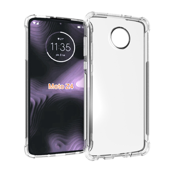 Ultra clear transparent shockproof tpu case for Moto Z4 soft back cover