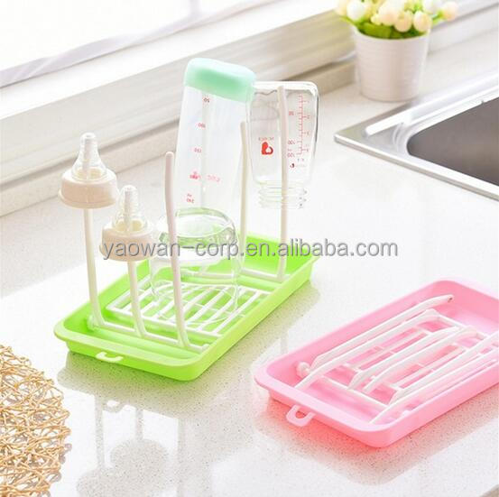 cheap foldable portable plastic baby bottle drying rack on sale