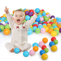 "2.1"" 50Pcs Pk Colorful Soft Plastic Ocean Fun Ball Balls Baby Kids Tent Swim Pit Toys Game Gift 50p"
