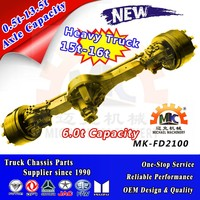 40 ton 6X6 Semi Trailer Front Drive Steer Axle with 10 Bolts Wheel Hub