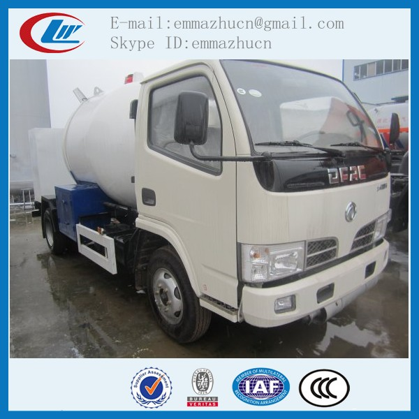 dongfeng mini lpg cylinder truck for sales