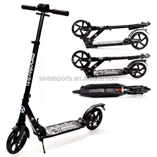 Full Aluminum Adult Cruiser Kick Scooter with Suspension Shocks