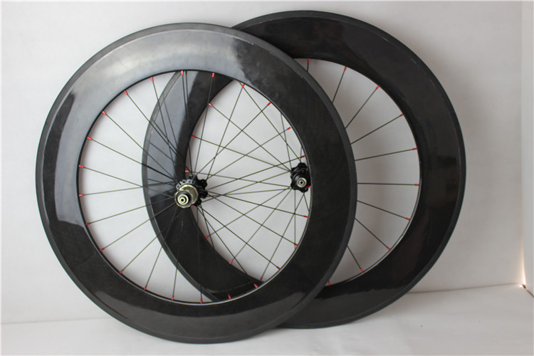 Popular sale! Top quality full carbon road racing bike wheels clincher 88mm carbon racing bike wheelset for sale