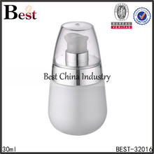 chinese alibaba special shape custom silk printing white glass water bottle with aluminum pump spray 30ml