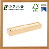 Chrismas unfinished handmade decorative wooden sliding wooden pencil box