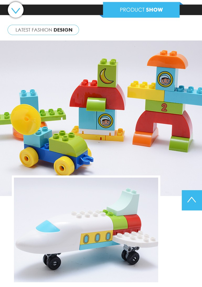 China product kids educational fun plastic block toy with with best service
