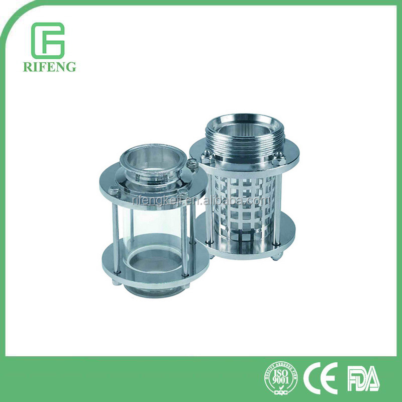 Sanitary Stainless Steel Clamp/Thread Straight Sight Glass With Or Without Protecting Net