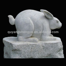 white marble rabbit for garden decoration