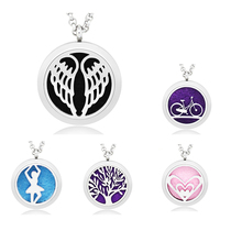 In Stock Wholesale Fashion Stainless Steel Aromatherapy Essential Oil Diffuser Pendant Charm <strong>Necklace</strong>
