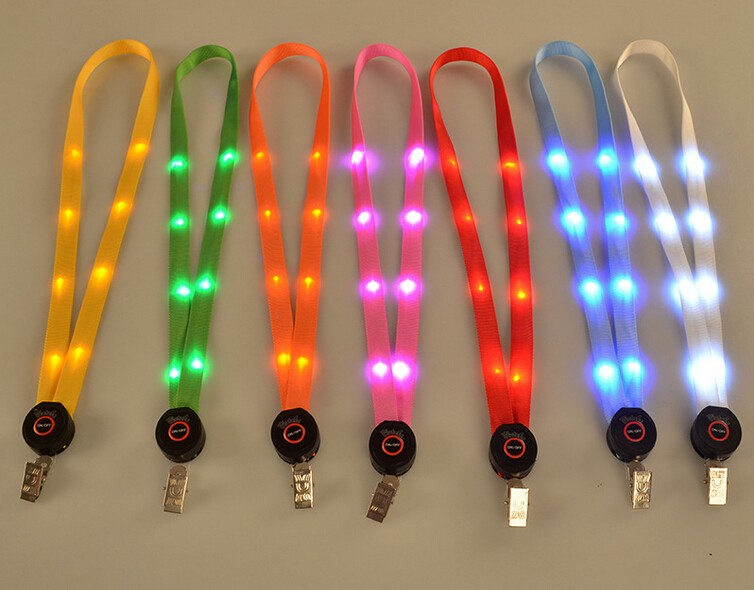 2017 hot promotion Led Lanyard with customized logo