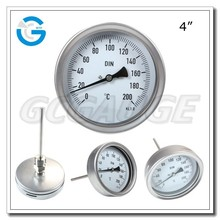 High quality stainless steel industrial bimetal thermo thermometer