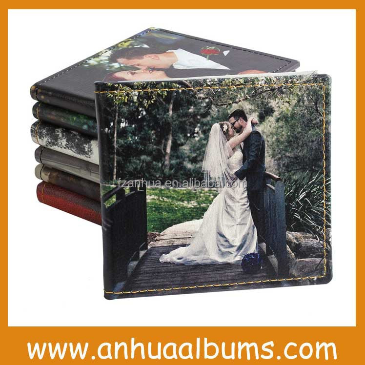 Glass Cover Flush Mount wedding photo Album