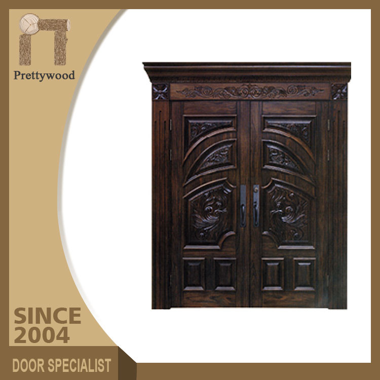 Luxurious Carving Solid Wooden Main Gates Antique Doors Thailand