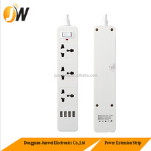 3 Outlets Socket 4Gang USB Charging Strip UK/USA/Schuko Plug Socket