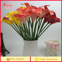 2017 trending High Quality PU callas Artificial Flower Real Touch for Wedding,Room,Home,Hotel,Party Decoration