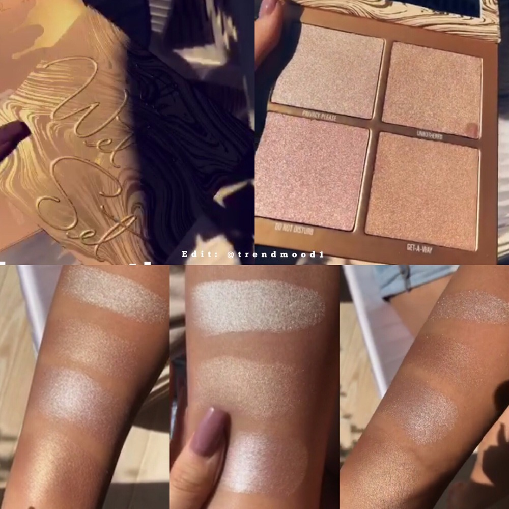 NEW HOT! Kylie Jenner Bronzers & Highlighters Kylie the Wet Set Palette 4 Colors Highlight Palette