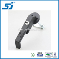 L handle industrial cabinet lock/long screw assembling/tolling type insert/plastic lock