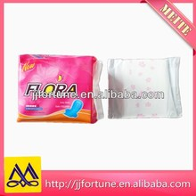 Cotton surface absorbent ladies sanitary pads manufacturer in China