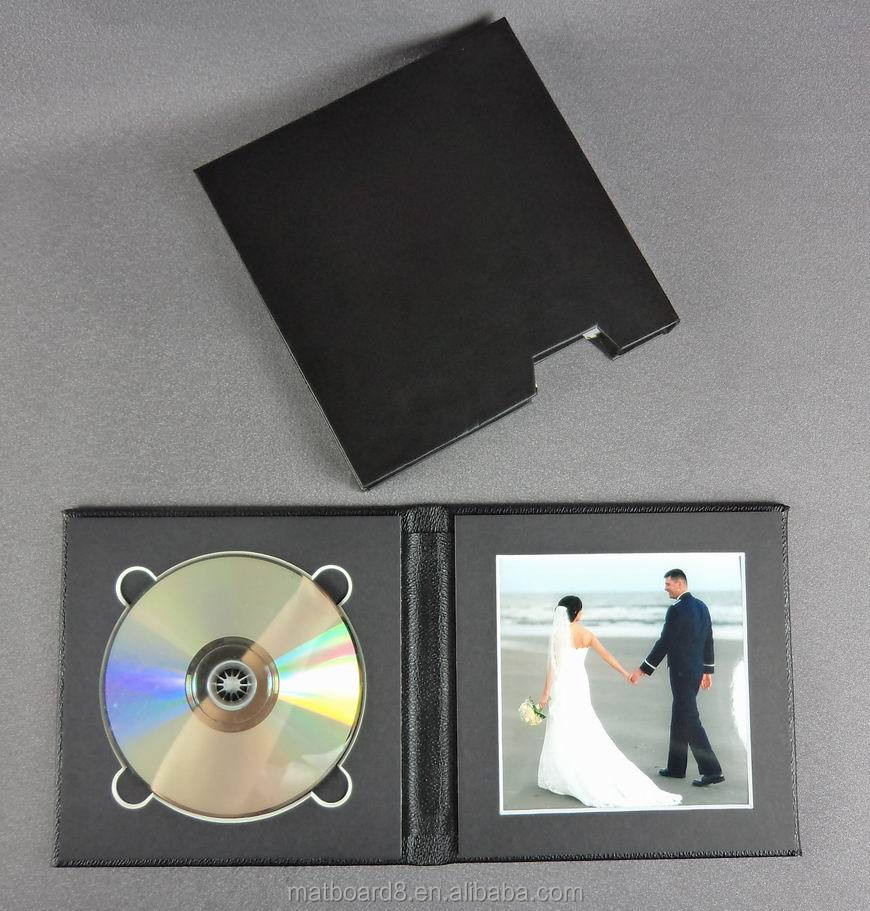 portable dvd storage bag stylish single leather cover cd case decorative cd folio wholesale cute cd dvd case