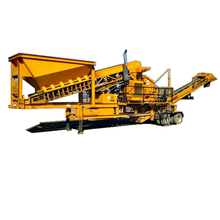 Construction waste plant mobile stone rock crushing plant