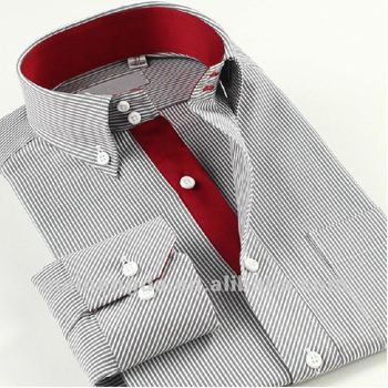 Different color in collar stylish men shirt buy mens for Mens dress shirts with different colored cuffs and collars