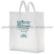 Soft Loop Handle Plastic Carrier Shopping Tote Bag