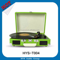 Good quality suitcase record player for 33 45 78 RPM Stereo Bluetooth USB Vinyl turntable speakers
