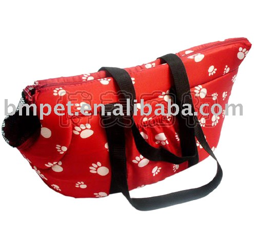 Red Dog Pet Travel Carrier Tote Bag/ Purse/ Beauty
