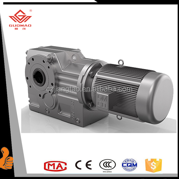 K Series Helical Gearmotor solid output shaft Gear Reducer Manufacturers