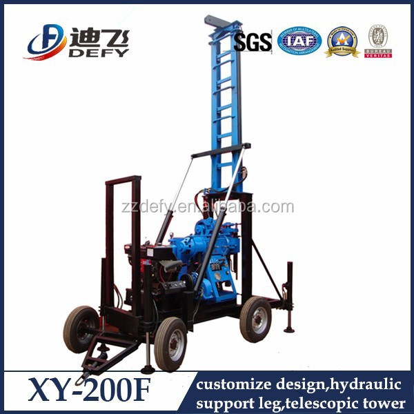 Hydraulic portable core geotechnical drilling rig with spt hammer