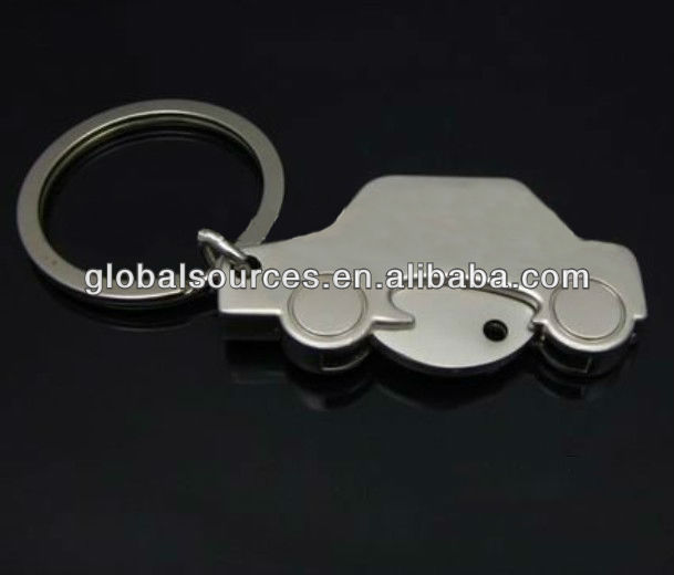 car shaped trolley coin holder keychain metal