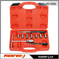 10PC Diesel Injector Seat Cutter set injector disassembling tool