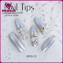 Wholesale 24pcs Per Set Jewelry DIY Design Nail Tips Full Cover Fake False Nail