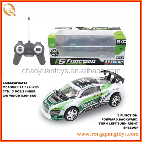 remote control car 1/18 scale rc car with 5 channel RC588699-2