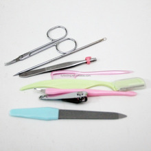 8Pcs/Set Face Beauty Nail Care Set Kit Tool Product Include Eyebrow Knife Trimmer Shaver Comb Scissor