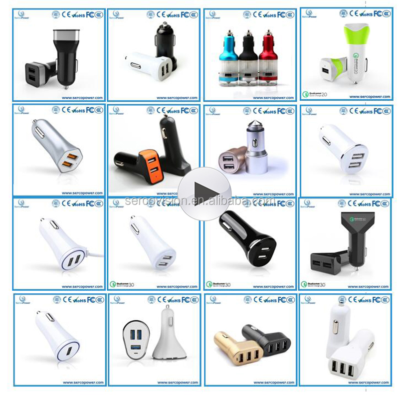 Wholesale Fast 5V Multi Ports Type C Universal Cell Phone Mini Car Usb Charger