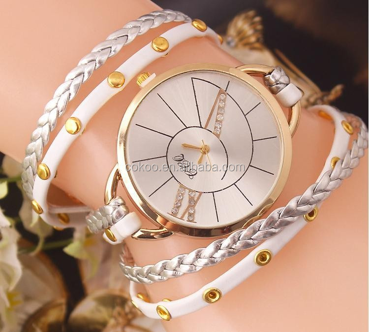 2015 New Arrival Rope big Surface High Quality Women's dress Watch