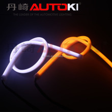 Autoki Flexible Soft Tube Headlight Car LED Strip DRL LED Turn Signal Light