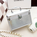 Portable Travel Jewelry Cosmetic Organizer Box With Mirror