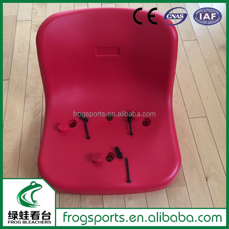 Factory price HDPE stadium chairs plastic bleacher seats