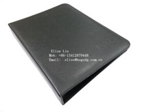 Top Quality File Folder customized travel document holder A4 size promotion hardcover folders leather portfolio folders